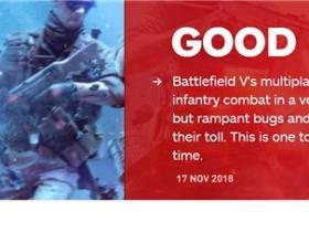 《战地5》多人模式IGN7.5分:战斗方向正确但bug太多
