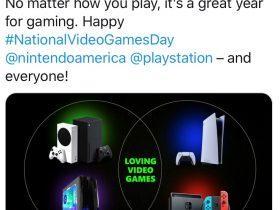 国家游戏日,Xbox 发推喊话索尼、任天堂
